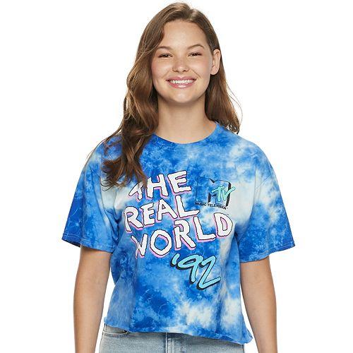 Juniors' MTV The Real World Tie-Dye Crop Tee