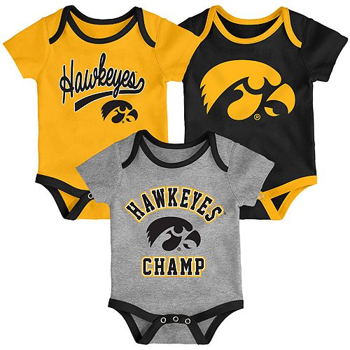 Baby Iowa Hawkeyes Champ 3-Pack Bodysuit Set