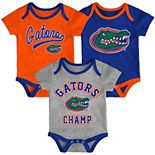 Baby Florida Gators Champ 3-Pack Bodysuit Set