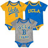 Baby UCLA Bruins Champ 3-Pack Bodysuit Set