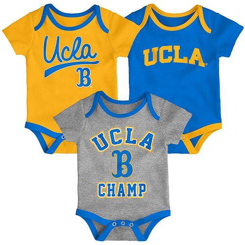 Baby UCLA Bruins Champ 3-Pack Bodysuit Set