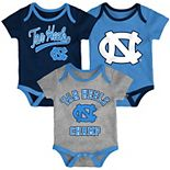 Baby North Carolina Tar Heels Champ 3-Pack Bodysuit Set