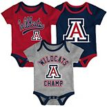 Baby Arizona Wildcats Champ 3-Pack Bodysuit Set