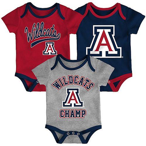 Baby Arizona Wildcats Champ 3-Pack Bodysuit Set