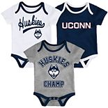 Baby UConn Huskies Champ 3-Pack Bodysuit Set