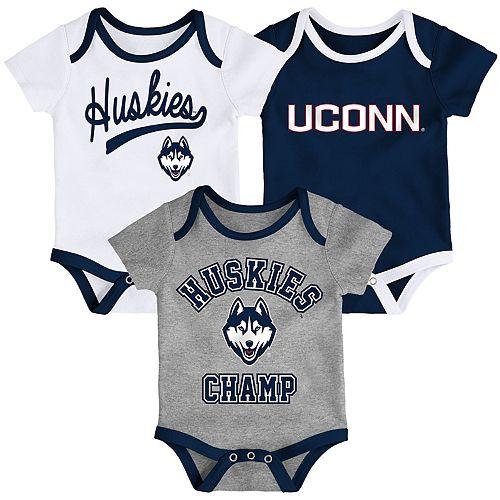 Baby UConn Huskies Champ 3-Pack Bodysuit Set