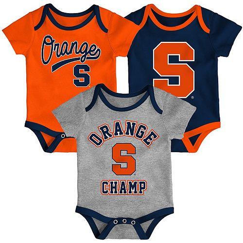 """Baby Boys' NCAA Syracuse """"Champ"""" Bodysuit 3-pk"""