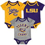 Baby LSU Tigers Champ 3-Pack Bodysuit Set
