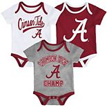 Baby Miami Hurricanes Champ 3-Pack Bodysuit Set
