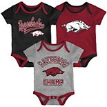 Baby Arkansas Razorbacks Champ 3-Pack Bodysuit Set