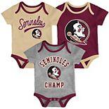 Baby Florida State Seminoles Champ 3-Pack Bodysuit Set