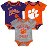 Baby Clemson Tigers Champ 3-Pack Bodysuit Set