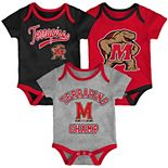 Baby Maryland Terrapins Champ 3-Pack Bodysuit Set