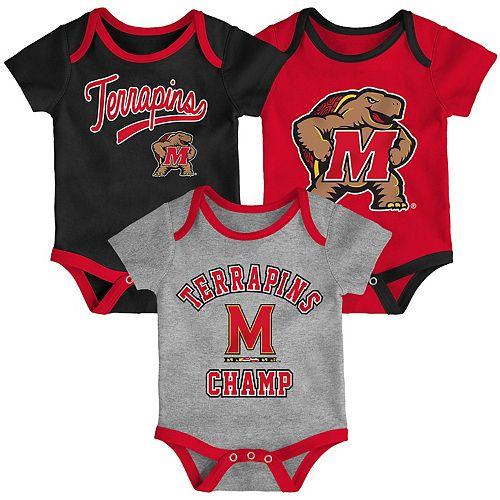 Baby Maryland Terrapins Champ 3-Pack Bodysuit Set