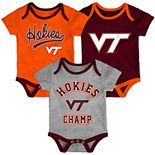 Baby Virginia Tech Hokies Champ 3-Pack Bodysuit Set