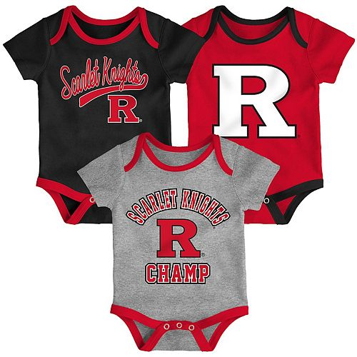 Baby Rutgers Scarlet Knights Champ 3-Pack Bodysuit Set