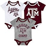 Baby Texas A&M Aggies Champ 3-Pack Bodysuit Set