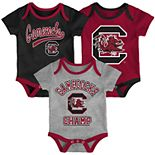 Baby South Carolina Gamecocks Champ 3-Pack Bodysuit Set