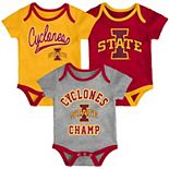Baby Iowa State Cyclones Champ 3-Pack Bodysuit Set