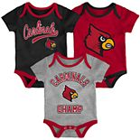Baby Louisville Cardinals Champ 3-Pack Bodysuit Set