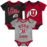 Baby Utah Utes Champ 3-Pack Bodysuit Set