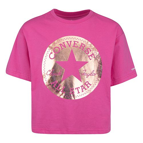 Girls 7 16 Converse Foil Chuck Taylor All Star Boxy Tee