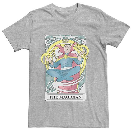 Men's Marvel's Doctor Strange The Magician Tarot Card Tee