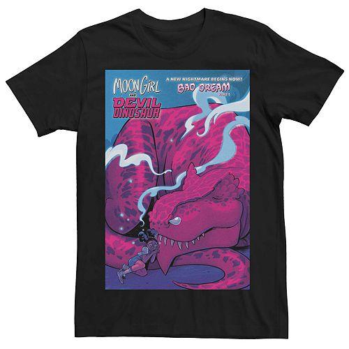 Men's Marvel Moon Girl and Devil Dinosaur Comic Cover Tee