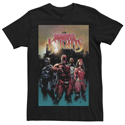 Men's Marvel Knights Group Pose Comic Cover Tee