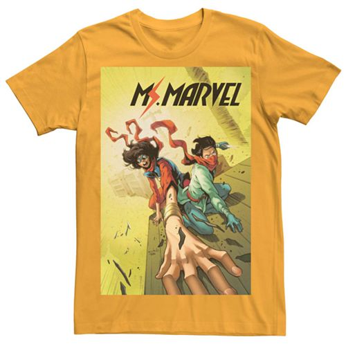 Juniors' Marvel's Ms. Marvel Train Comic Cover Tee