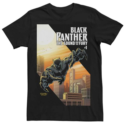Men's Marvel Black Panther Sound Fury #1 Comic Cover Tee