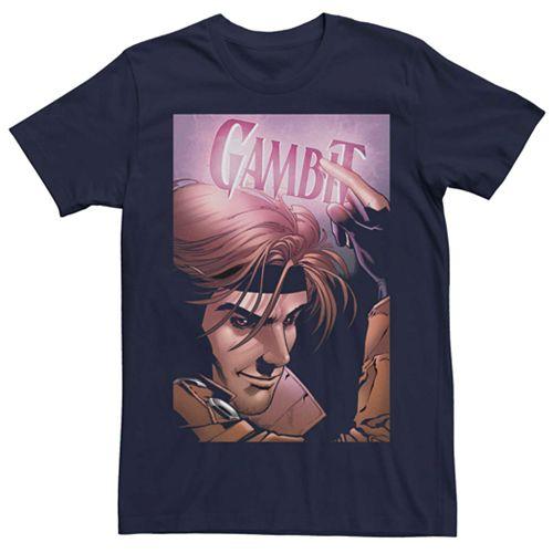 Men's Marvel Neon Gambit Poster Tee