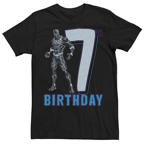 Men's Marvel Black Panther 7th Birthday Tee