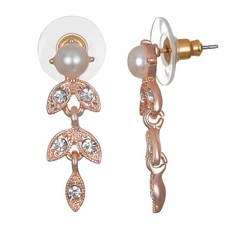 LC Lauren Conrad Rose Gold Toned Branch Climber Earrings