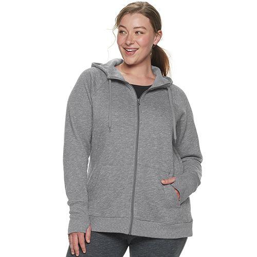 Plus Size Tek Gear® Fleece Zip Up Hoodie