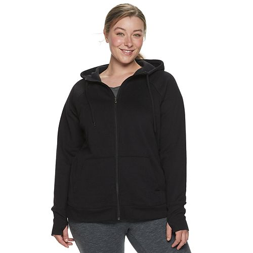 Plus Size Tek Gear® Fleece Zip Up Hoodie