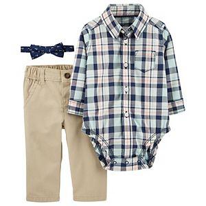 Baby Boy Carter's 3-Piece Plaid Dress Me Up Set
