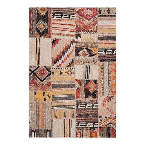 Safavieh Taupe/Multi Montage Leyla Rug