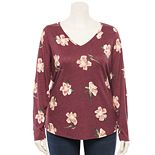 Plus Size EVRI? Long Sleeve V-Neck Top