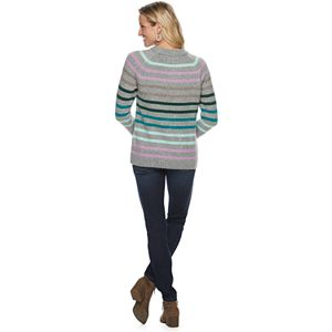 Women's Sonoma Goods For Life Mixed-Stitch Crewneck Sweater