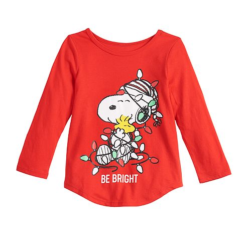 Toddler Girl Family Fun Peanuts Snoopy Christmas Graphic Tee