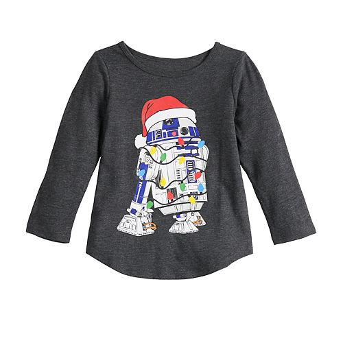Toddler Girl Family Fun™ Star Wars R2-D2 Christmas Graphic Tee