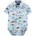 Baby Boy OshKosh B?gosh® Dinosaur Print Button-Front Romper