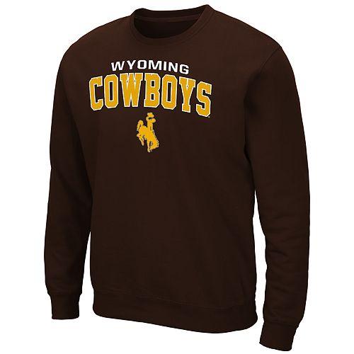 Men's Wyoming Cowboys Crewneck Fleece