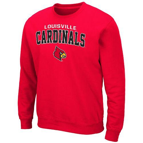 Men's Louisville Cardinals Crewneck Fleece