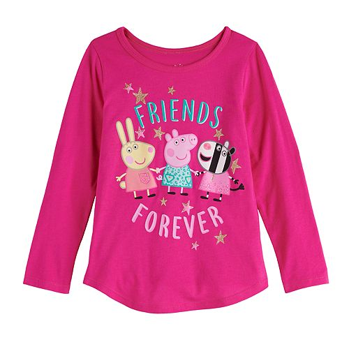 "Toddler Girl Jumping Beans® Peppa Pig ""Friends Forever"" Long Sleeve Graphic Tee"