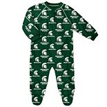 Baby Michigan State Spartans Footed Bodysuit