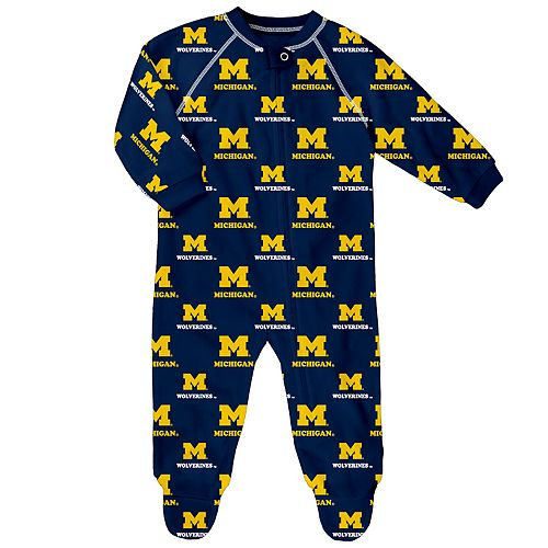 Baby Michigan Wolverines Footed Bodysuit