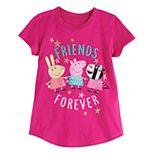 "Toddler Girl Jumping Beans® Peppa Pig ""Friends Forever"" Short Sleeve Graphic Tee"