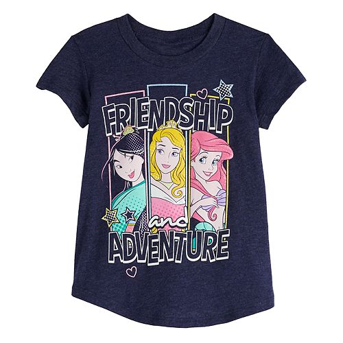 "Disney's Mulan, Ariel & Aurora Toddler Girl ""Friendship and Adventure"" Graphic Tee by Jumping Beans®"